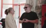 """הצלם אבי קרפיק והבמאי יצחק """"צפל"""" ישורון. צילום: יוני המנחם."""
