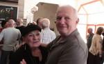 מנהל ההפקה דב מעוז והמאפרת מרי הלן. צילום: יוני המנחם.