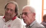 אלכס פלג עם מבקר הקולנוע גידי אורשר. צילום: יוני המנחם.