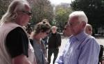 אמנון סלומון עם נתן זהבי. צילום: יוני המנחם.
