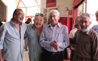 מימין לשמאל: הבמאי עלי נסאר, אמנון סלומון, אריה מוסקונה וזאב רווח. צילום: יוני המנחם.