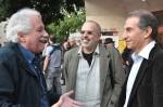 מימין: ששון גבאי, רוני ניניו, כתריאל שחורי. צילום: יוני המנחם