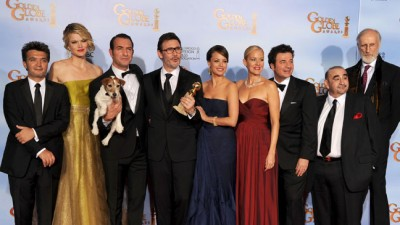 "צוות ""הארטיסט"" בטקס גלובוס הזהב 2012. צילום: Kevin Winter/Getty Images"