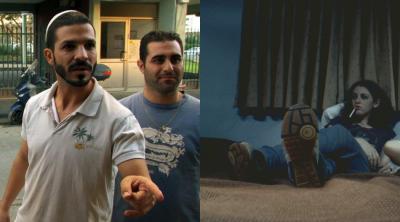 """מימין: רוני קידר מתוך """"ג'ו ובל""""; איציק גולן ורועי אסף מתוך """"המשגיחים""""."""