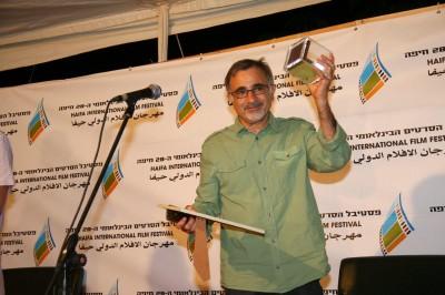 """משה איבגי זוכה בפרס השחקן בסרט עלילתי על """"מנתק המים"""". צילום: גוסטבו הוכמן"""