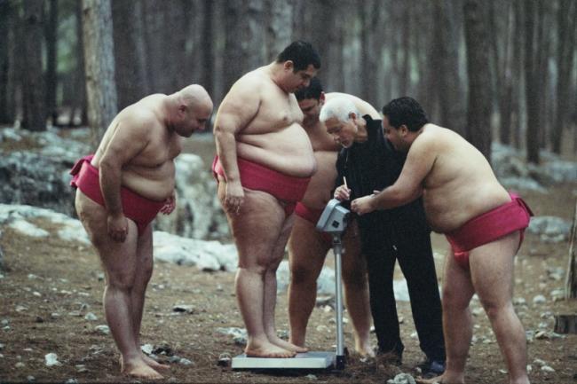 מימין לשמאל: אלון דהן, טוגו איגאוואה, שמוליק כהן (מציץ), איציק כהן ודביר בנדק. מתוך סיפור גדול | צילום: מאיר רגואן