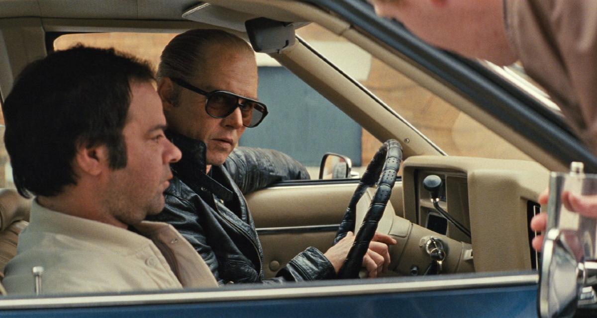 """תמונה של רורי קוקריין עם ג'וני דפ מתוך """"חוקי הפשע"""""""