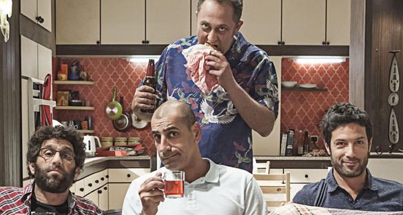 """תמונה של רון שחר עם פיני קידרון, קובי מימון, יוסי מרשק מתוך """"פרודים"""""""