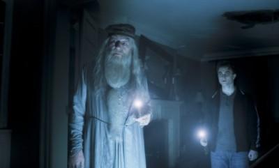 דניאל רדקליף ומייקל גמבון. מתוך הארי פוטר והנסיך חצוי-הדם.