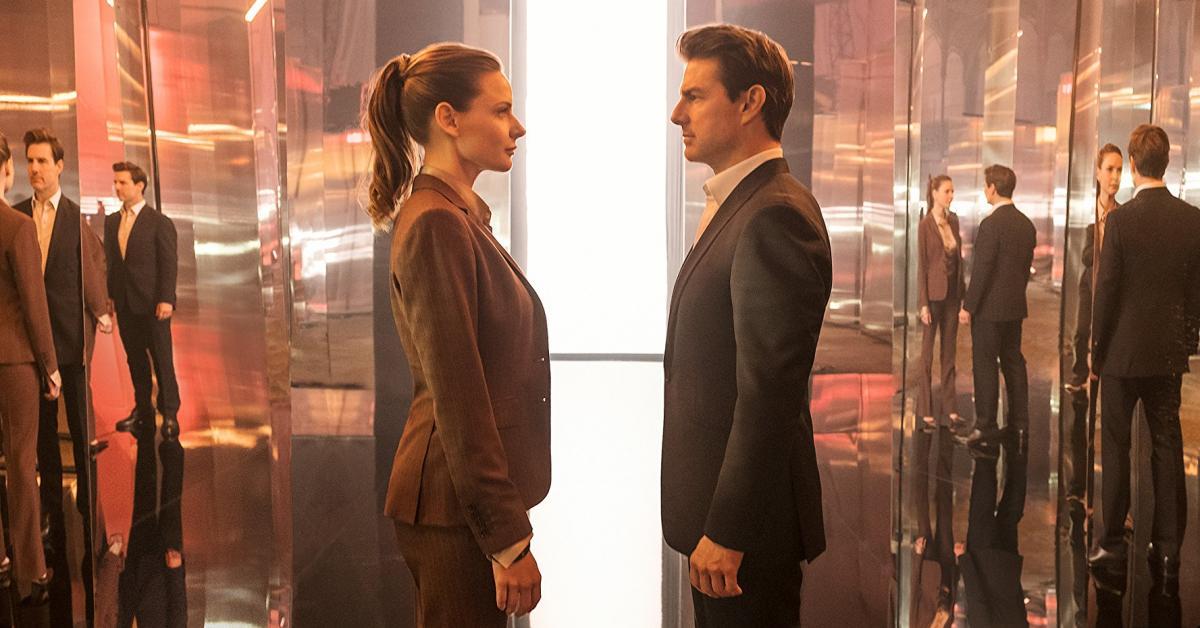 """תמונה של רבקה פרגוסון עם טום קרוז מתוך """"משימה בלתי אפשרית 6: התרסקות"""""""
