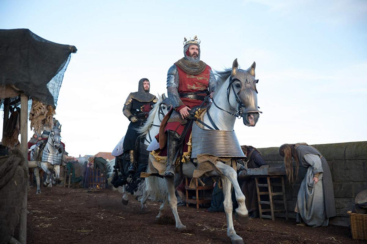 """תמונה של סטיבן דיליין עם בילי האוול מתוך """"מלחמתו של רוברט דה ברוס"""""""