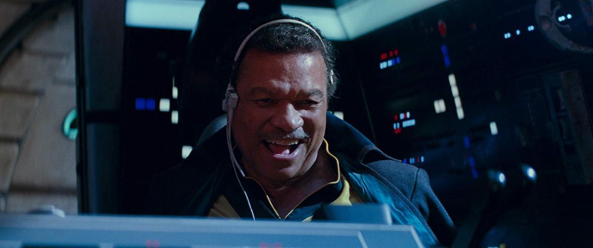 """תמונה של בילי די וויליאמס מתוך """"מלחמת הכוכבים: פרק 9 - עלייתו של סקייווקר"""""""