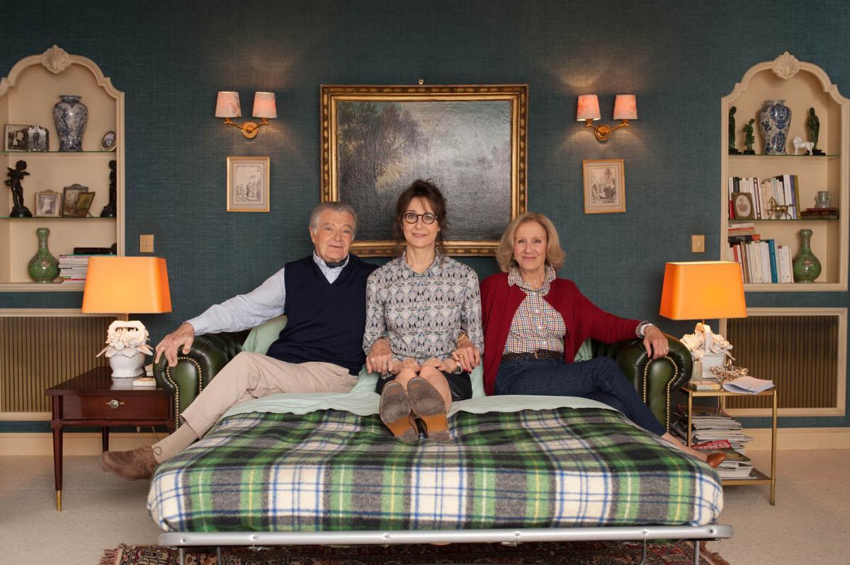"""תמונה של הלן ונסן עם ואלרי למרסייר, פיליפ לנדנבך מתוך """"50 זה ה-30 החדש"""""""