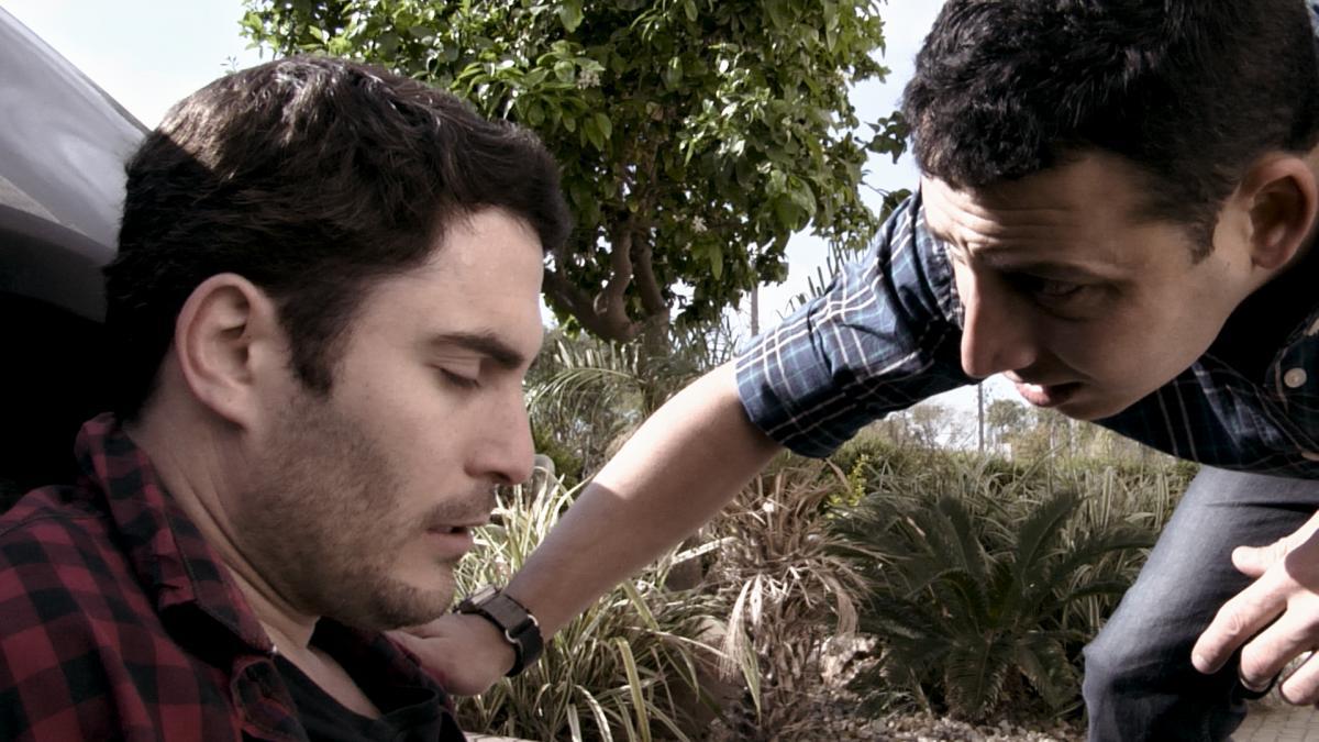 """תמונה של זיו פלג עם אודי פרסי מתוך """"אנתרקס"""""""