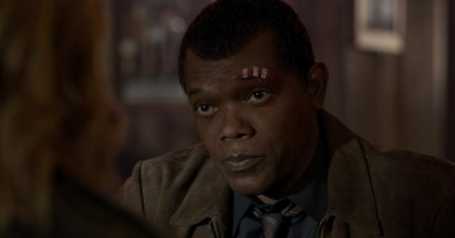 """""""קפטן מארוול"""". סמואל ל. ג'קסון."""