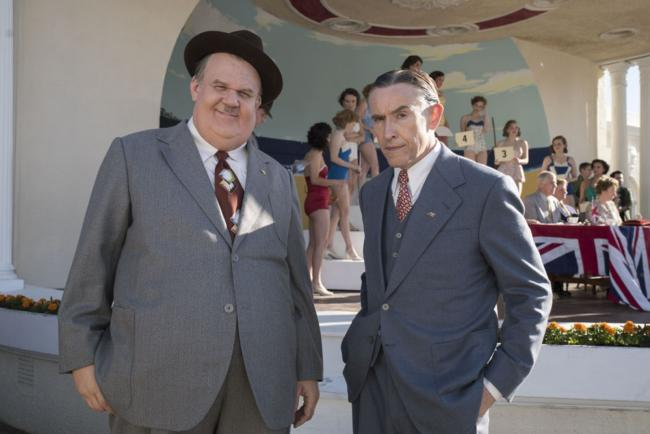 """""""השמן והרזה"""". סטיב קוגן, ג'ון סי. ריילי."""