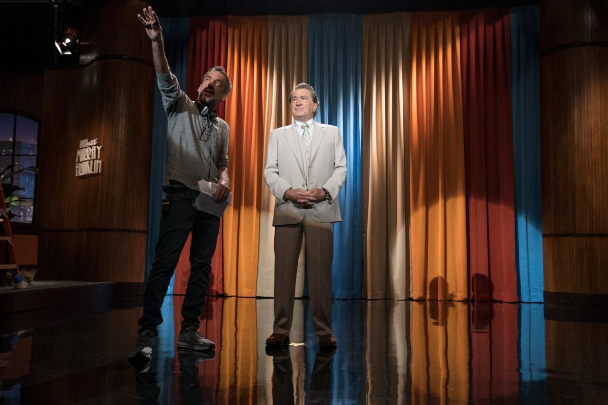 """תמונה של רוברט דה נירו עם טוד פיליפס מתוך """"ג'וקר"""""""