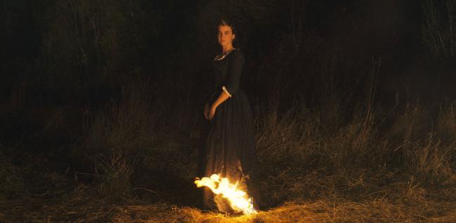 """""""דיוקן של נערה עולה באש"""". אדל האנל."""