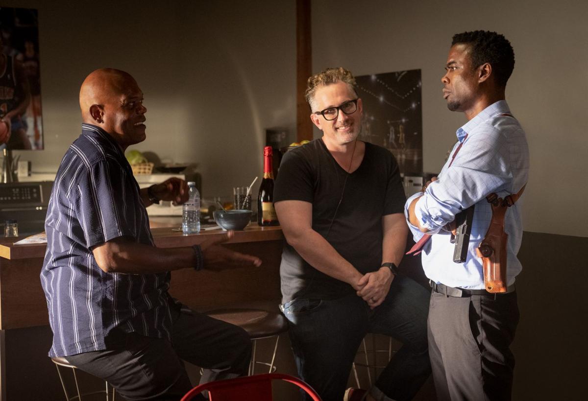 """תמונה של סמואל ל. ג'קסון עם כריס רוק, דארן לין בוסמן מתוך """"ספירלה: סרט מסור (ש.ל.ר)"""""""