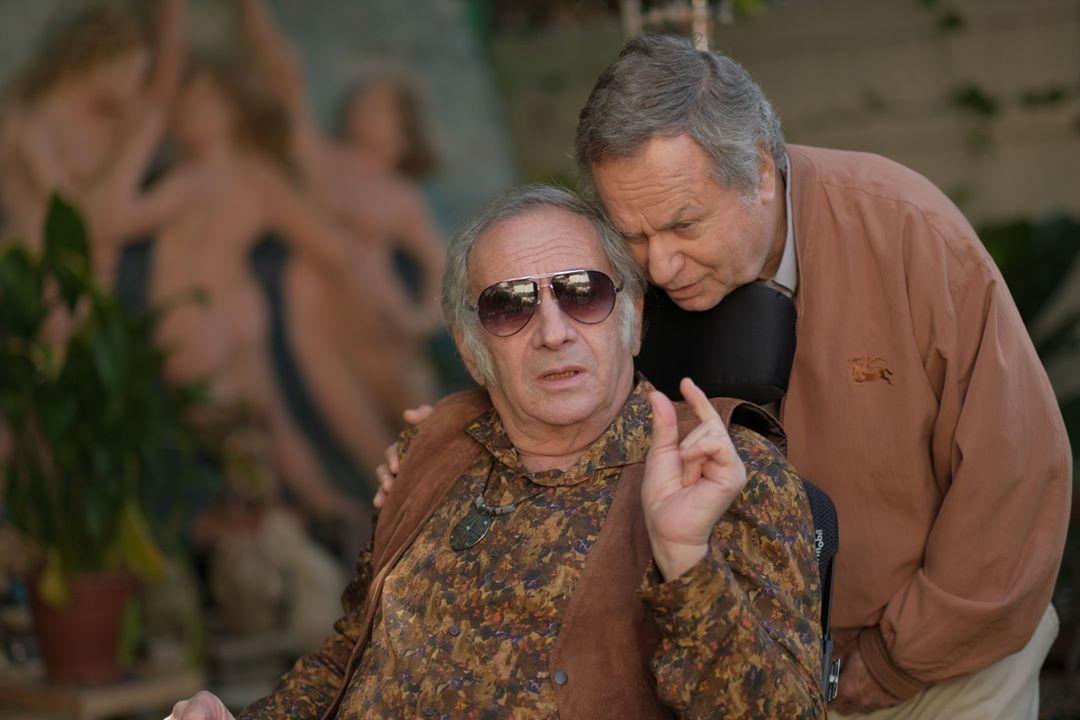 """תמונה של שלמה בראבא עם דובל'ה גליקמן מתוך """"שאיפה לחיים"""""""