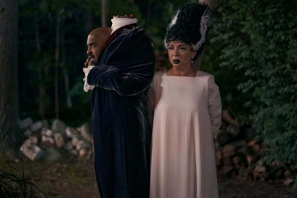 """תמונה של מאיה רודולף עם טים מדאוז מתוך """"יובי יציל את האלווין"""""""