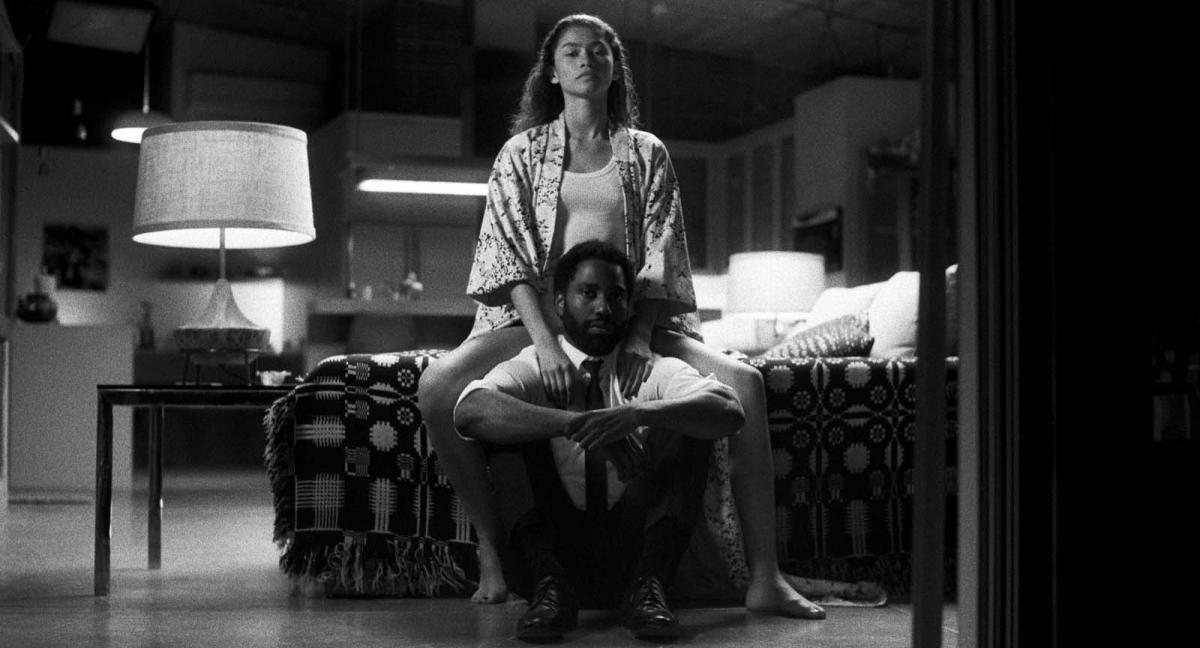"""תמונה של ג'ון דיויד וושינגטון עם זנדאיה מתוך """"מלקולם ומארי"""""""