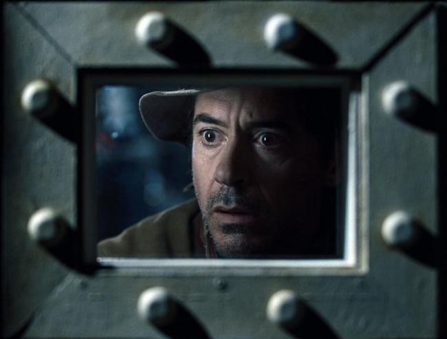 """""""שרלוק הולמס 2"""". רוברט דאוני ג'וניור."""
