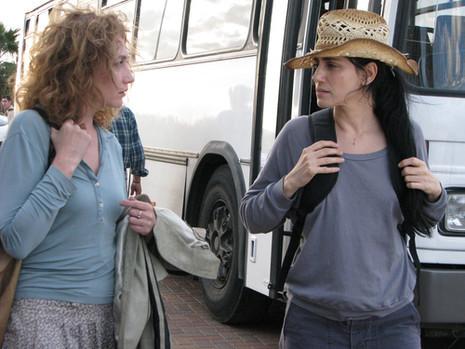 """""""לא רואים עליך"""". רונית אלקבץ, יבגניה דודינה."""