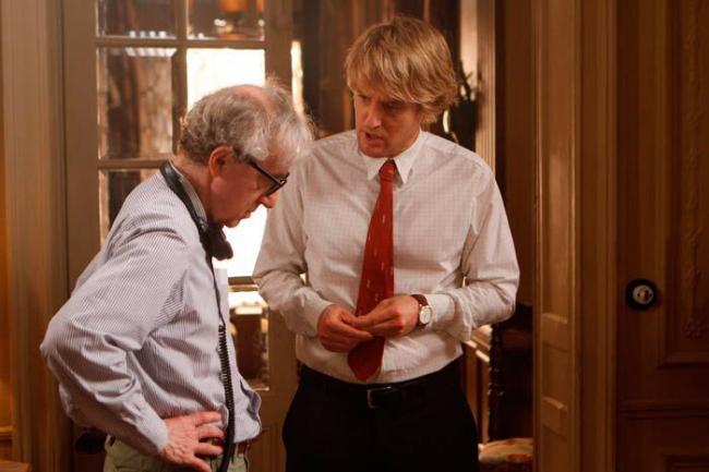 """""""חצות בפריז"""". אוון ווילסון, וודי אלן."""
