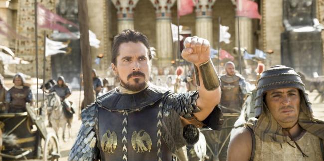 """""""אקסודוס: אלים ומלכים"""". כריסטיאן בייל."""