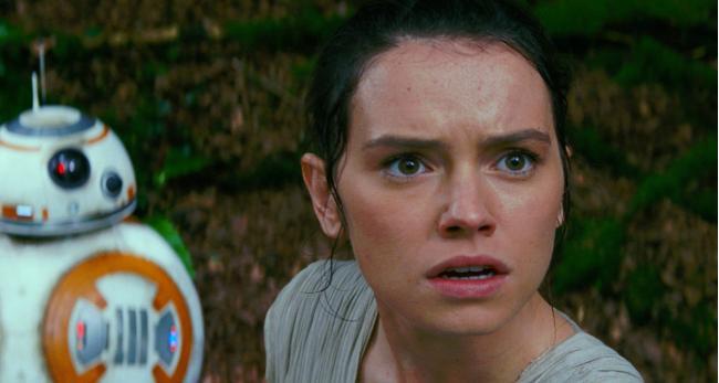 """""""מלחמת הכוכבים: פרק 7 - הכוח מתעורר"""". דייזי רידלי."""