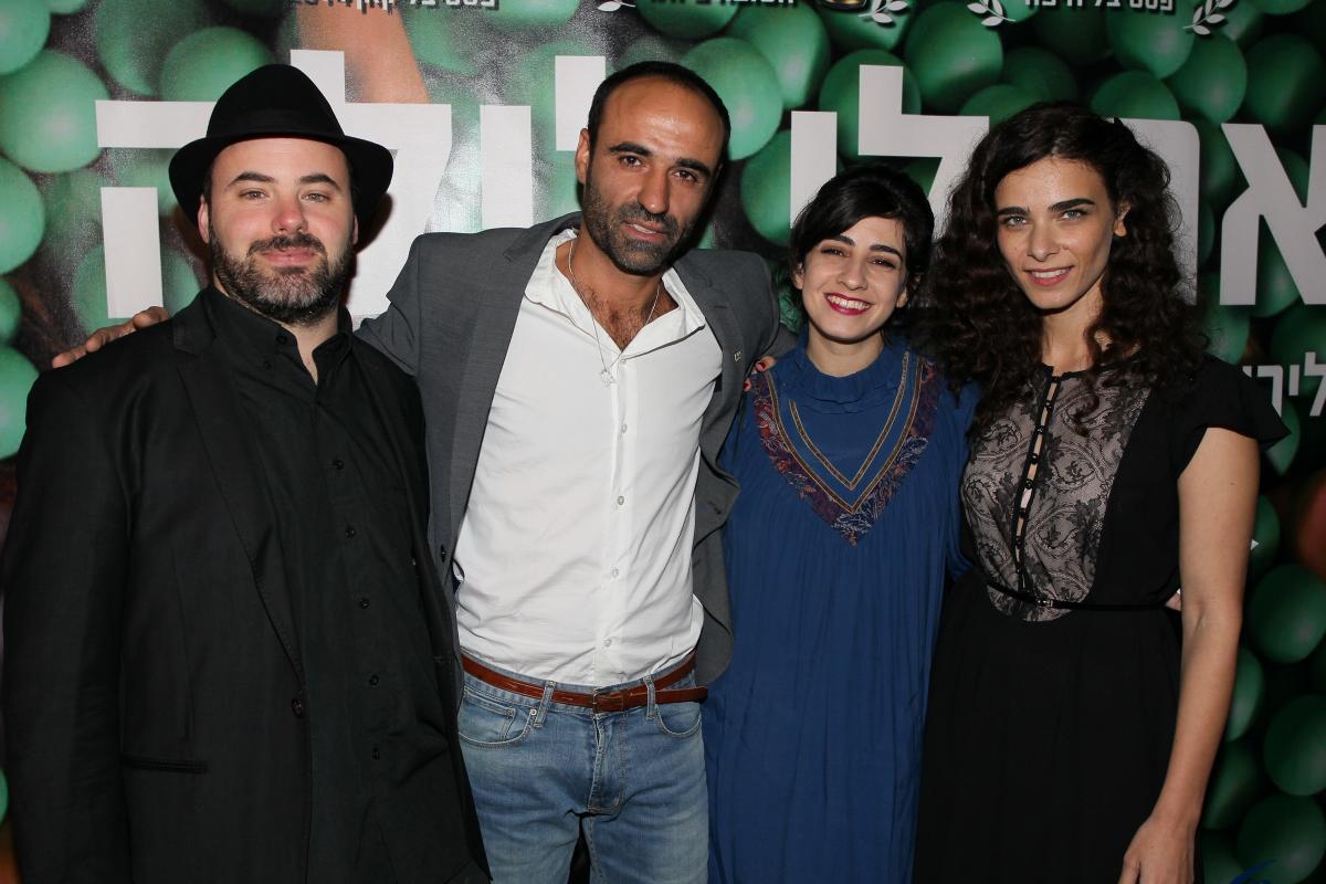 """תמונה של לירון בן שלוש עם דאנה איבגי, אסף קורמן, יעקב זדה דניאל מתוך """"את לי לילה"""""""