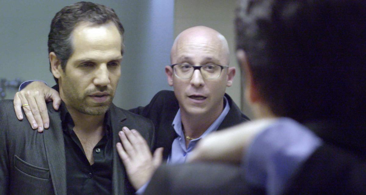"""תמונה של יוסף (ג'ו) סוייד עם ערן זרחוביץ' מתוך """"התסריטאי"""""""