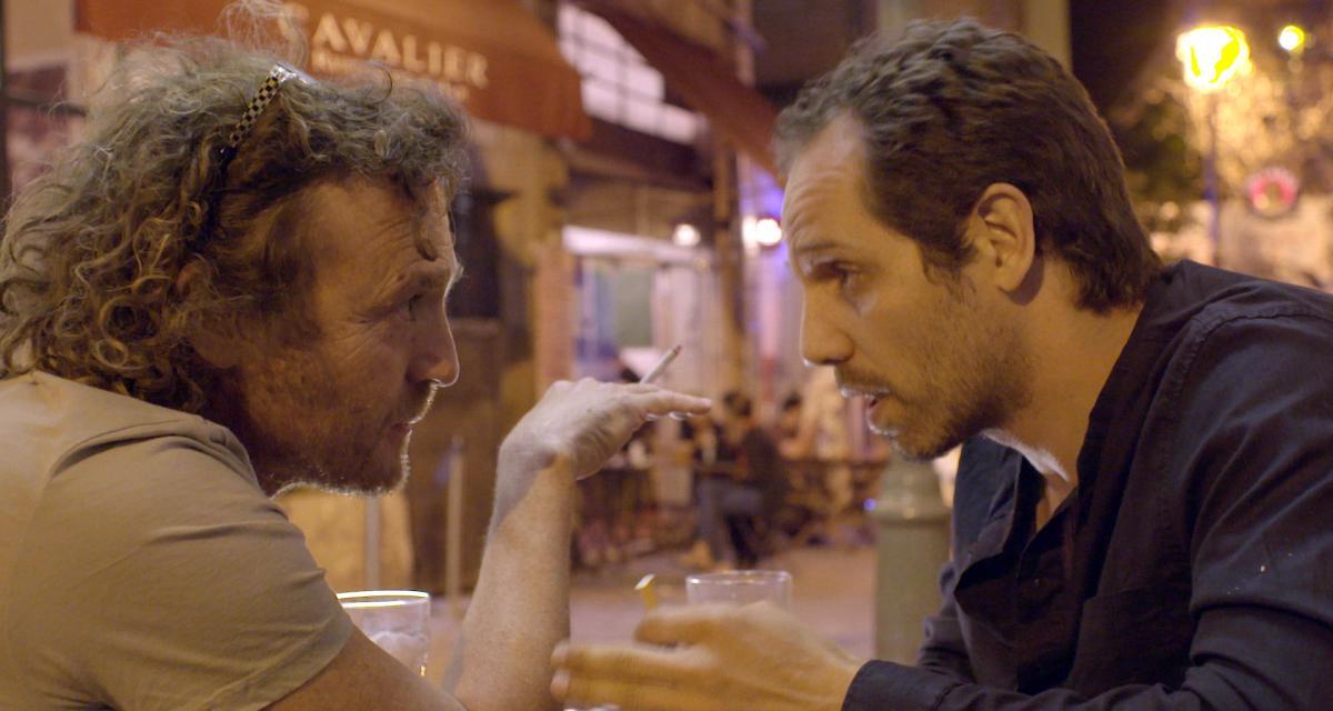 """תמונה של יוסף (ג'ו) סוייד עם שי קפון מתוך """"התסריטאי"""""""
