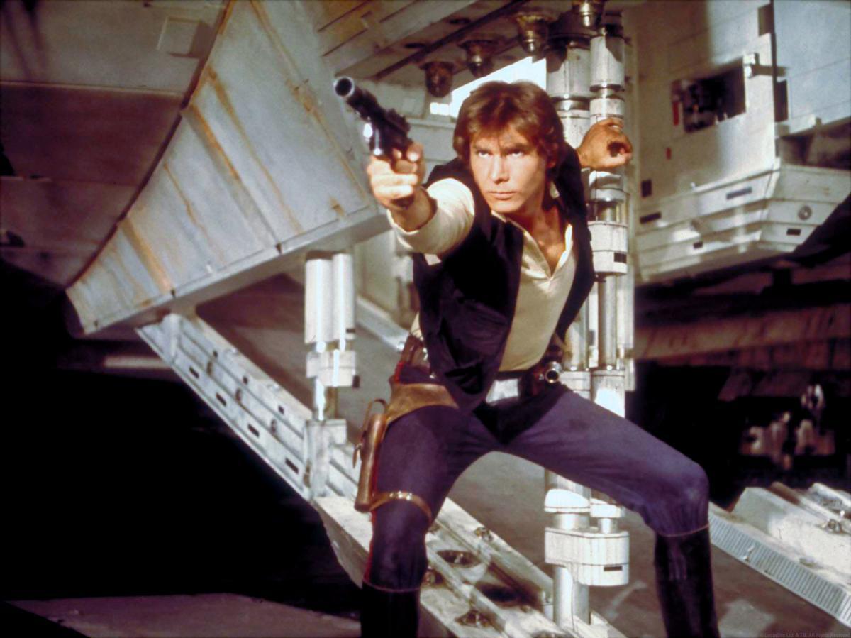 """תמונה של האריסון פורד מתוך """"מלחמת הכוכבים"""""""