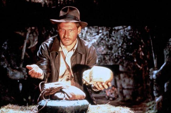 """""""שודדי התיבה האבודה"""". האריסון פורד."""
