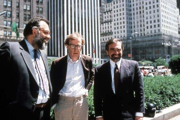 """תמונה של מרטין סקורסזה עם וודי אלן, פרנסיס פורד קופולה מתוך """"סיפורי ניו יורק"""""""