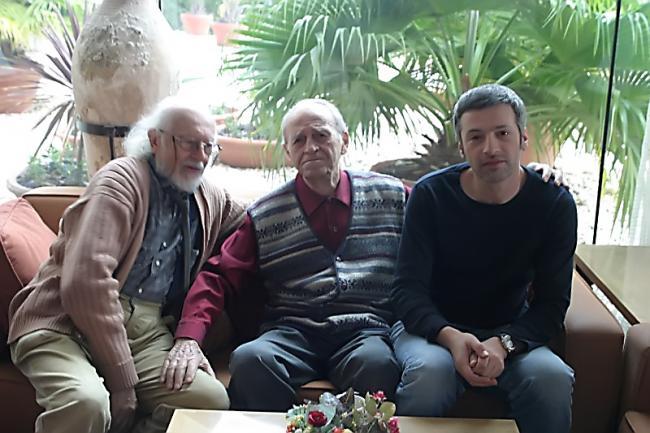 """משמאל לימין: יהודה פוקס ז""""ל, נתן כוגן ז""""ל, אייל שכטר יבדל לחיים ארוכים."""