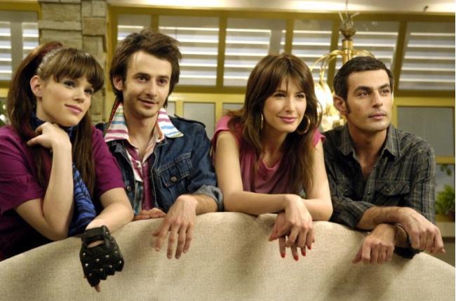מימין: שי פלד, שירה קצנלבוגן, איתי שור ונטע פלוטניק. מתוך דני הוליווד 2 | צילום: יוסי צבקר