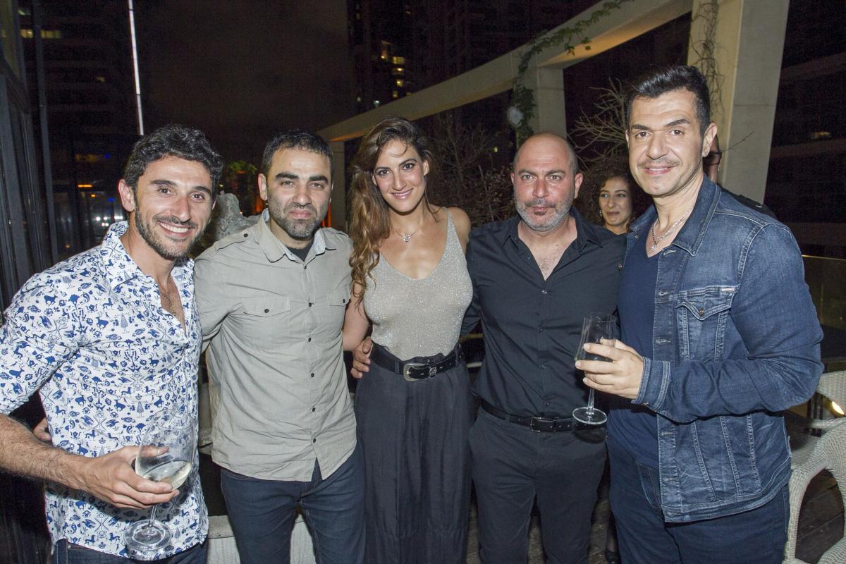 """תמונה של איציק כהן עם ליאור רז, רונה-לי שמעון, הישאם סלימאן מתוך """"פאודה"""""""